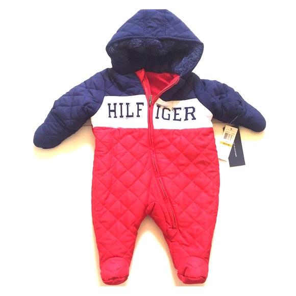 fantastische Einsparungen verschiedene Arten von heiß-verkaufender Beamter Tommy Hilfiger Hooded outerwear Baby coverall NWT